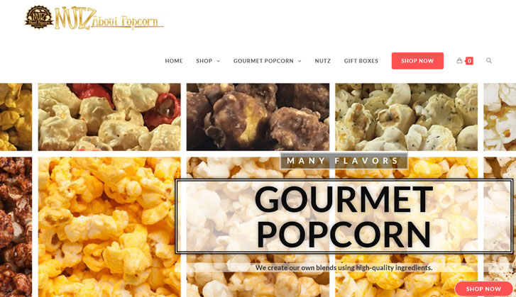 Nutz About Popcorn's New Website