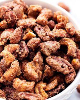 Cinnamon Glazed Roasted Almonds