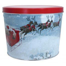 Medium Tin – Holiday Santa's Sleigh