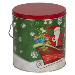 Small Tin – Holiday Sparkly Santa